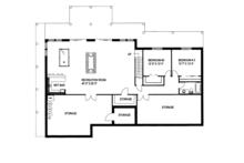 Contemporary Floor Plan - Lower Floor Plan Plan #117-842