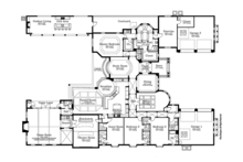 Mediterranean Floor Plan - Main Floor Plan Plan #1058-87
