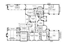 Mediterranean Floor Plan - Main Floor Plan Plan #1058-87