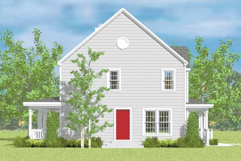 House Blueprint - Country Exterior - Other Elevation Plan #72-1082