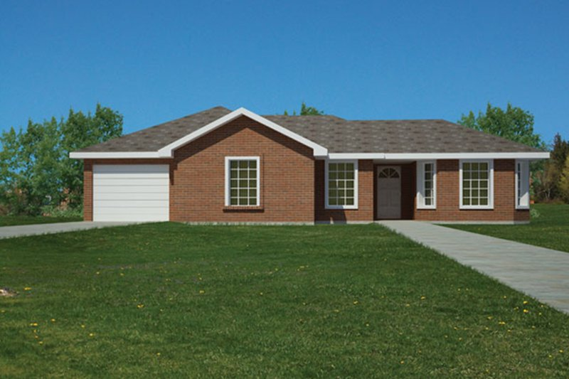Ranch Exterior - Front Elevation Plan #1061-32
