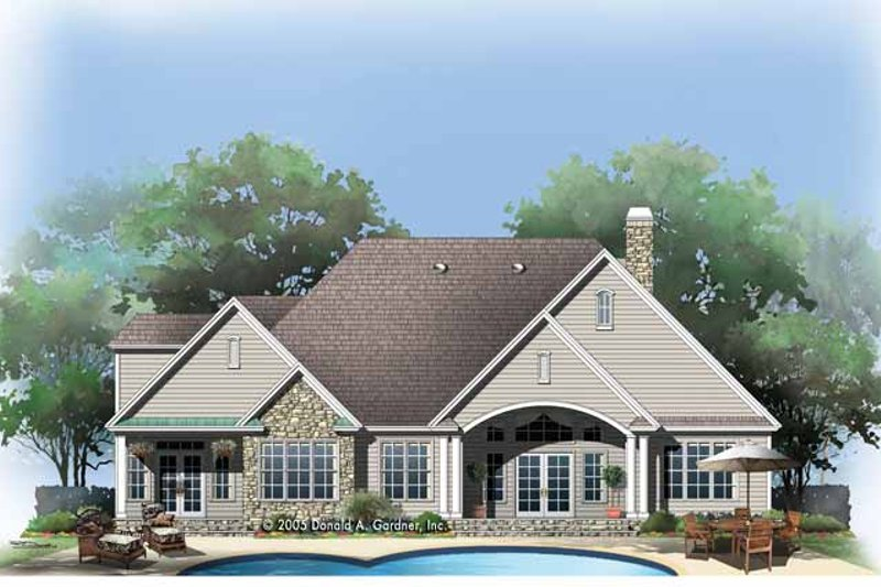 Craftsman Exterior - Rear Elevation Plan #929-780 - Houseplans.com
