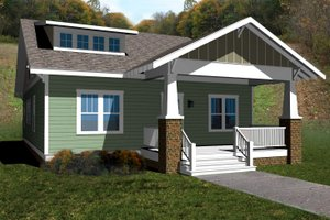 Craftsman Exterior - Front Elevation Plan #461-37
