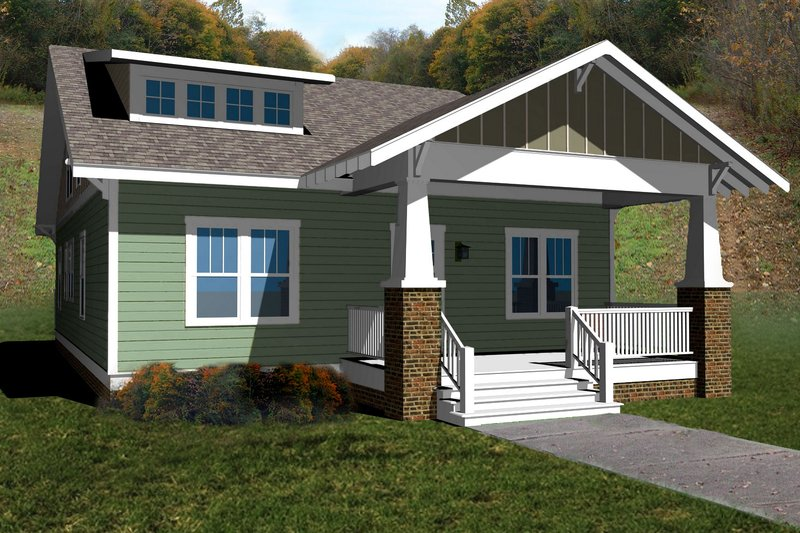 Craftsman Style House Plan - 3 Beds 2.5 Baths 2354 Sq/Ft Plan #461-37 Exterior - Front Elevation