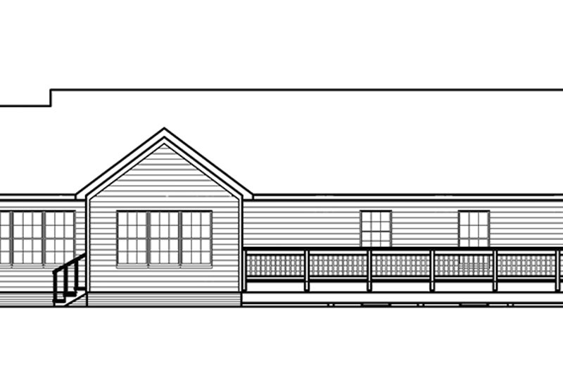Traditional Exterior - Rear Elevation Plan #435-12 - Houseplans.com
