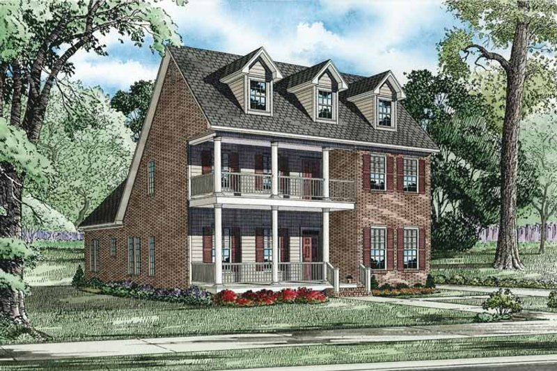 Dream House Plan - Traditional Exterior - Front Elevation Plan #17-3319