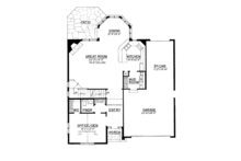 Craftsman Floor Plan - Main Floor Plan Plan #1016-107