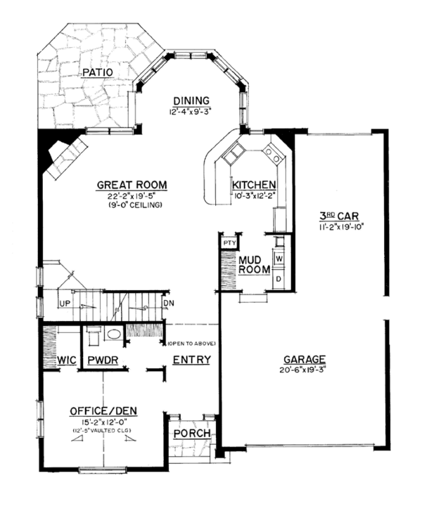 Craftsman Floor Plan - Main Floor Plan Plan #1016-107