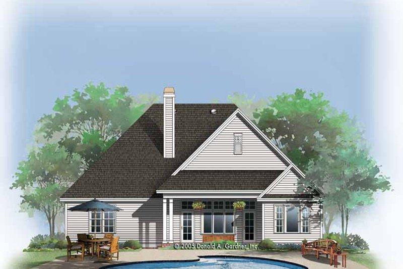 Ranch Exterior - Rear Elevation Plan #929-763 - Houseplans.com