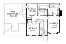 Colonial Floor Plan - Upper Floor Plan Plan #1053-66