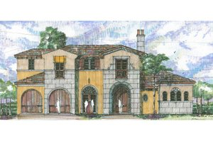Mediterranean Exterior - Front Elevation Plan #426-4