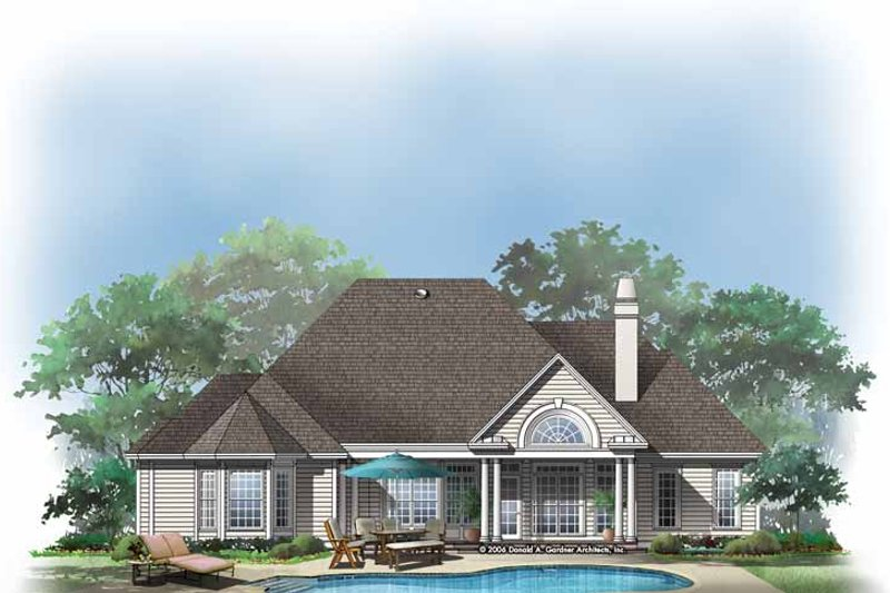 Home Plan - Ranch Exterior - Rear Elevation Plan #929-274
