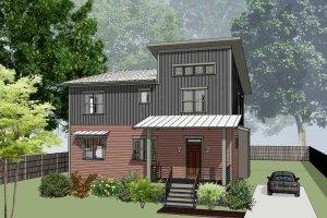 Modern Exterior - Front Elevation Plan #79-298