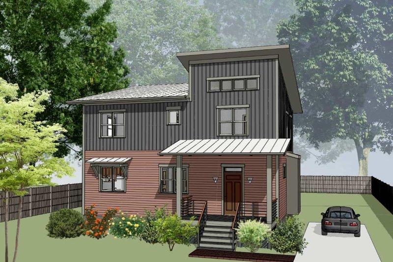 House Plan Design - Modern Exterior - Front Elevation Plan #79-298
