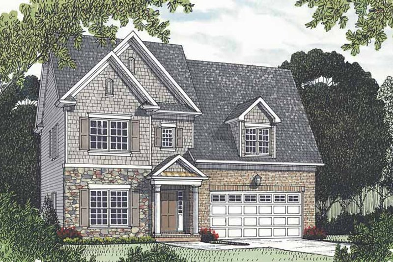 Traditional Exterior - Front Elevation Plan #453-527 - Houseplans.com