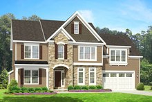 House Plan Design - Colonial Exterior - Front Elevation Plan #1010-92