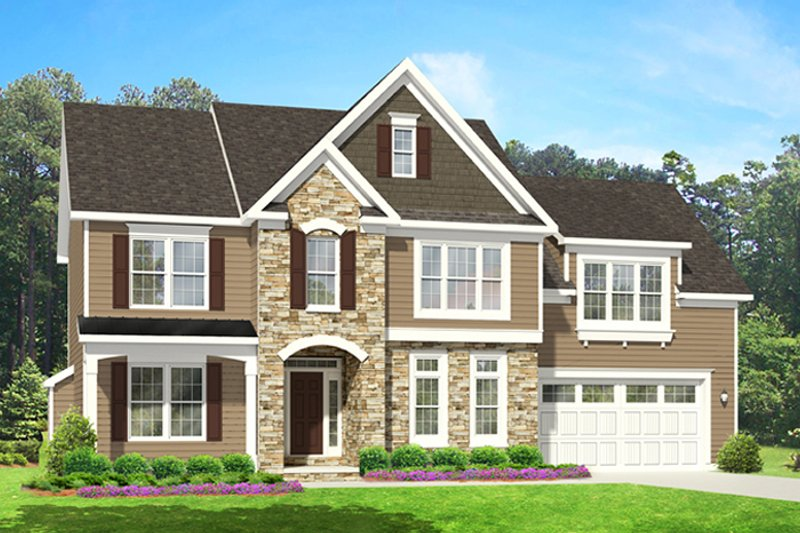 Home Plan - Colonial Exterior - Front Elevation Plan #1010-92