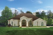 Mediterranean Style House Plan - 4 Beds 3 Baths 2414 Sq/Ft Plan #1058-45 Exterior - Front Elevation