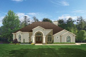Mediterranean Exterior - Front Elevation Plan #1058-45