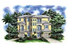 Architectural House Design - Mediterranean Exterior - Front Elevation Plan #1017-134