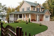 Country Style House Plan - 2 Beds 1.5 Baths 1252 Sq/Ft Plan #23-2164