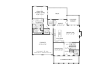 Traditional Floor Plan - Main Floor Plan Plan #927-955