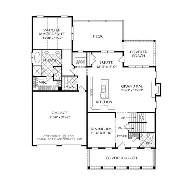 Home Plan - Traditional Floor Plan - Main Floor Plan #927-955