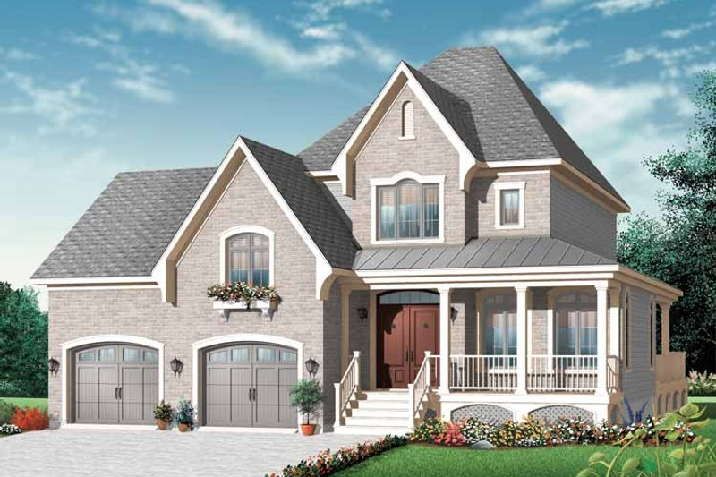 Country Exterior - Front Elevation Plan #23-2441