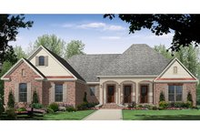 Architectural House Design - Country Exterior - Front Elevation Plan #21-433