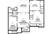 Traditional Style House Plan - 3 Beds 2 Baths 1800 Sq/Ft Plan #56-635 Floor Plan - Lower Floor Plan