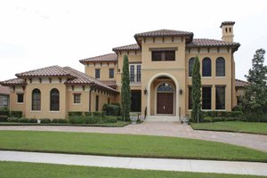 Dream House Plan - Mediterranean Exterior - Front Elevation Plan #1019-8