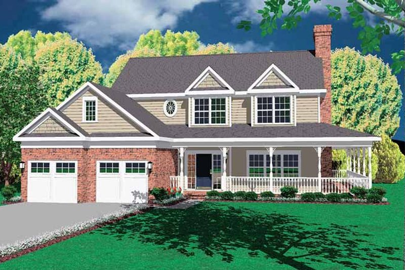 Victorian Exterior - Front Elevation Plan #11-254 - Houseplans.com