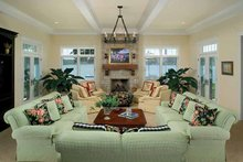 Craftsman Interior - Family Room Plan #928-188