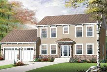Home Plan - Colonial Exterior - Front Elevation Plan #23-2479
