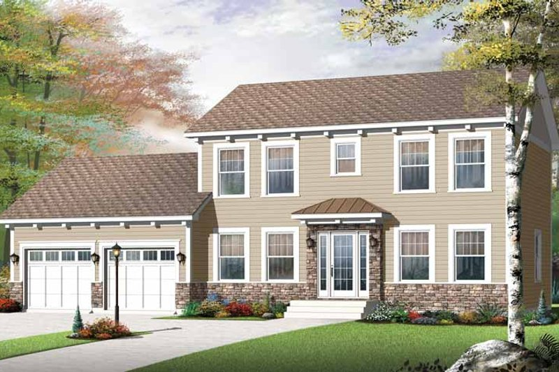 Architectural House Design - Colonial Exterior - Front Elevation Plan #23-2479