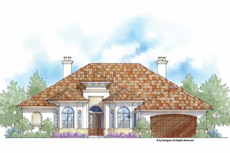 Mediterranean Exterior - Front Elevation Plan #938-62