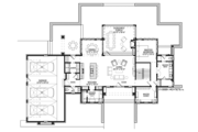 Contemporary Style House Plan - 4 Beds 5.5 Baths 3491 Sq/Ft Plan #928-291 Floor Plan - Main Floor Plan