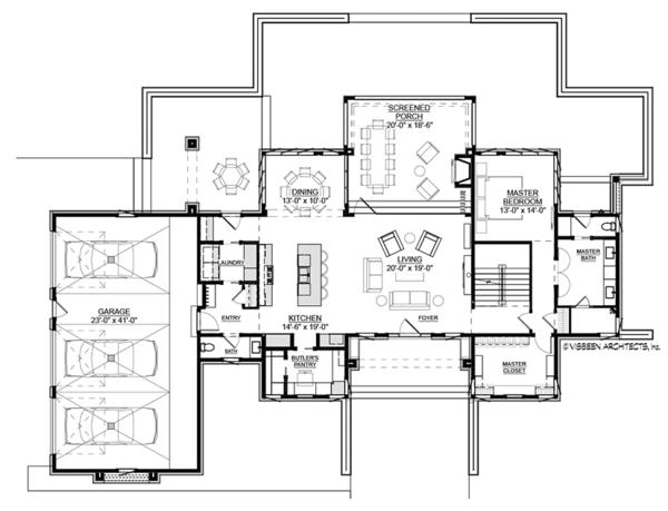 House Plan Design - Contemporary Floor Plan - Main Floor Plan #928-291