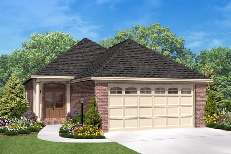 European Style House Plan - 3 Beds 2 Baths 1400 Sq/Ft Plan #430-50 Exterior - Front Elevation