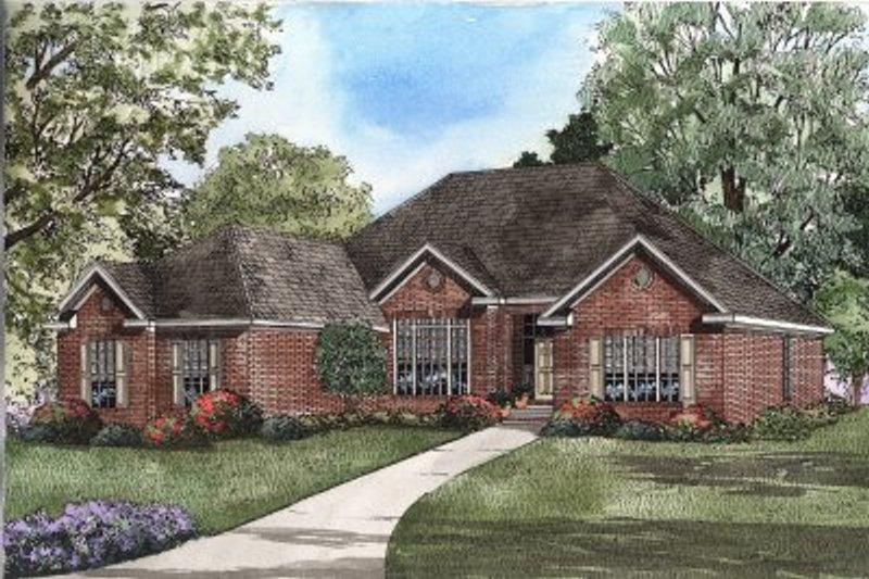 Architectural House Design - European Exterior - Front Elevation Plan #17-1109