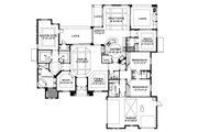 Mediterranean Style House Plan - 3 Beds 3.5 Baths 3606 Sq/Ft Plan #426-18 Floor Plan - Main Floor Plan