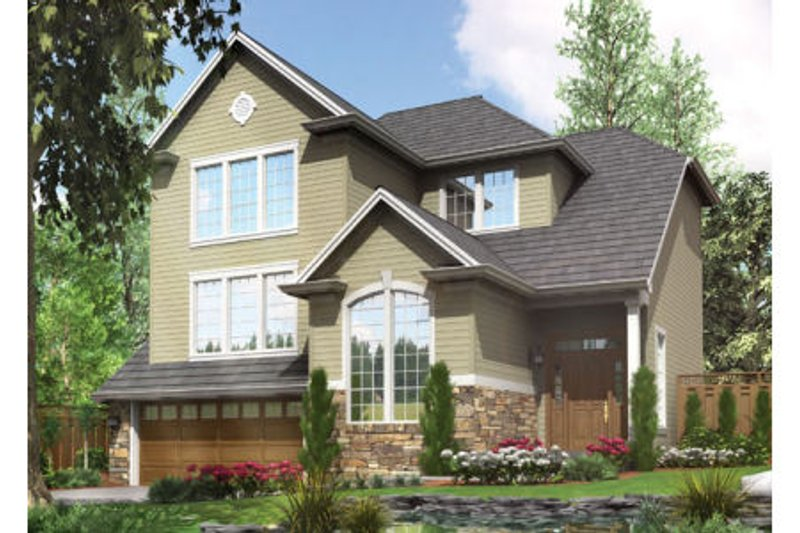 Craftsman Exterior - Front Elevation Plan #48-399