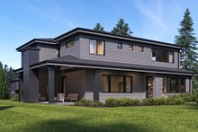 Architectural House Design - Contemporary Exterior - Rear Elevation Plan #1066-51