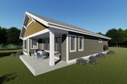 Craftsman Style House Plan - 2 Beds 2 Baths 1378 Sq/Ft Plan #1069-15 Exterior - Other Elevation