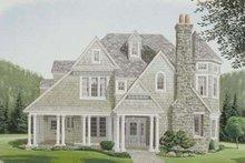 Dream House Plan - Victorian Exterior - Front Elevation Plan #410-183