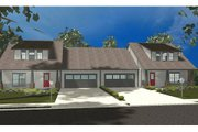 Craftsman Style House Plan - 3 Beds 2.5 Baths 3236 Sq/Ft Plan #455-97 Exterior - Front Elevation