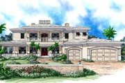 Mediterranean Style House Plan - 4 Beds 5 Baths 4763 Sq/Ft Plan #27-299 Exterior - Front Elevation