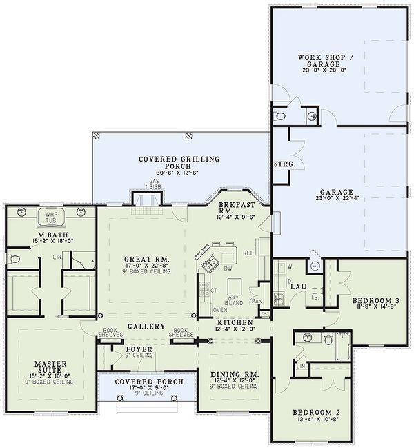 Ranch Floor Plan - Main Floor Plan #17-174