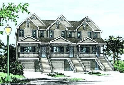 Craftsman Exterior - Front Elevation Plan #20-411