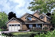 Traditional Style House Plan - 3 Beds 2 Baths 1782 Sq/Ft Plan #417-152 Exterior - Front Elevation